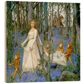 Wood print  The Fairy Wood - Henry Meynell Rheam