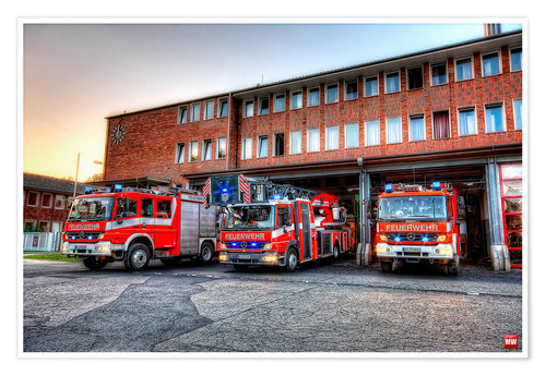 Premium poster Fire station in Germany