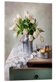 Acrylic print  Still life with tulips - Nailia Schwarz