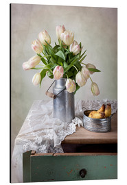Aluminium print  Still life with tulips - Nailia Schwarz