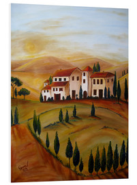 Foam board print  Sunrise in Tuscany - Christine Huwer