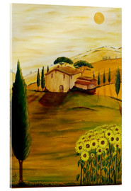 Acrylic print  Sunflowers in Tuscany - Christine Huwer