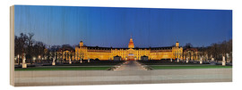 Wood print  Panoramic view of palace Karlsruhe Germany - FineArt Panorama