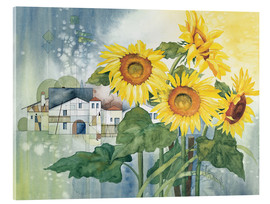 Acrylic print  Rays of sun flowers - Franz Heigl