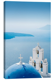 Canvas print  Church Santorini Greece - Mayday74