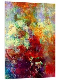 Foam board print  Stained paint - Wolfgang Rieger