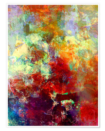 Premium poster  Stained paint - Wolfgang Rieger
