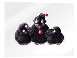 Acrylic print  Three Ravens, One Clown - Stefan Kahlhammer