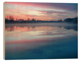 Wood print  Colors of the morning - Arnold Schaffer