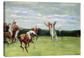 Canvas print  Polo players in Jenischpark - Max Liebermann
