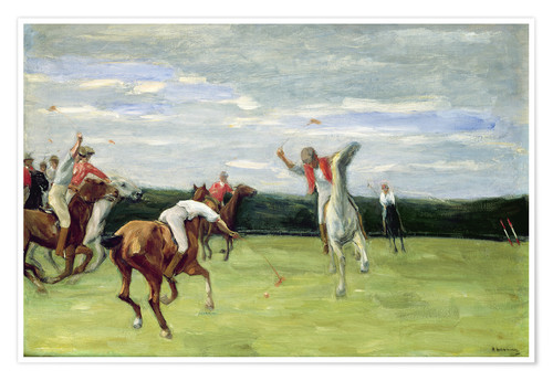 Premium poster Polo players in Jenischpark