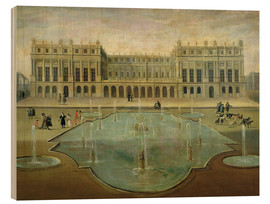 Wood print  Chateau de Versailles from the Garden Side - French School