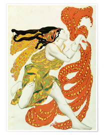 Premium poster  Costume design for a bacchante in 'Narcisse' by Tcherepnin - Leon Nikolajewitsch Bakst