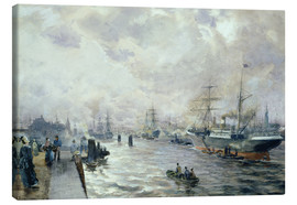 Canvas print  Sailing Ships in the Port of Hamburg - Carl Rodeck