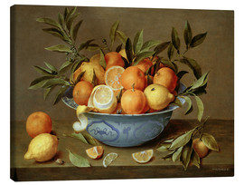 Canvas print  Still Life with Oranges and Lemons - Jacob van Hulsdonck