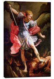 Canvas print  The archangel Michael defeating Satan - Guido Reni