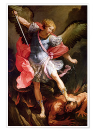 Premium poster  The archangel Michael defeating Satan - Guido Reni