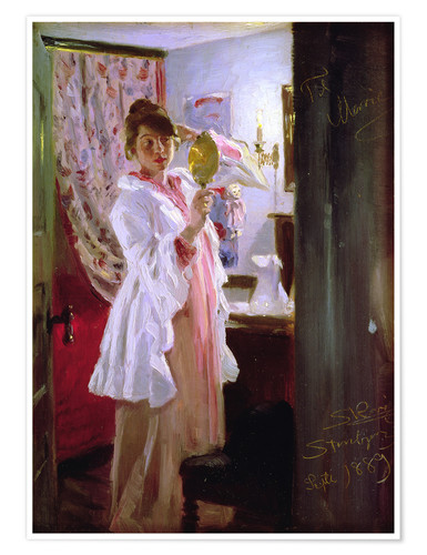 Premium poster Interior with the Artist's Wife