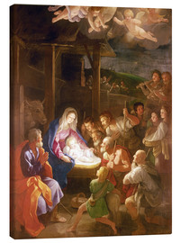 Canvas print  The Nativity at Night - Guido Reni