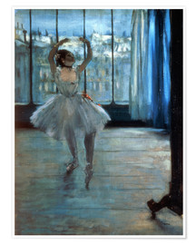 Premium poster  Dancer in Front of a Window - Edgar Degas