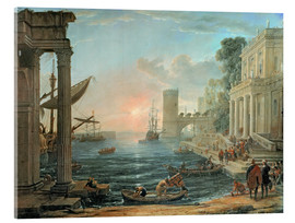 Acrylic print  Seaport with the Embarkation of the Queen of Sheba - Claude Lorrain