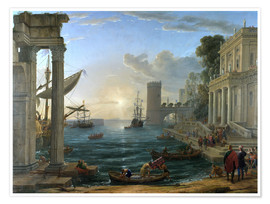 Premium poster Seaport with the Embarkation of the Queen of Sheba