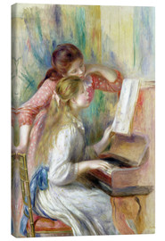 Canvas print  Young Girls at the Piano - Pierre-Auguste Renoir