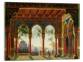 Acrylic print  Stage design for the opera 'Ruslan and Lyudmila' by M. Glinka - Andreas Leonhard Roller