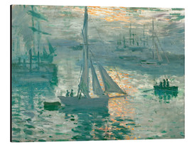 Aluminium print  Sunrise - Claude Monet