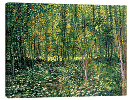 Canvas print  Trees and Undergrowth - Vincent van Gogh