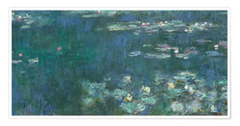 Premium poster  Water Lilies, Green Reflections 2 - Claude Monet
