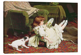 Canvas print  Time to Play - Charles Burton Barber