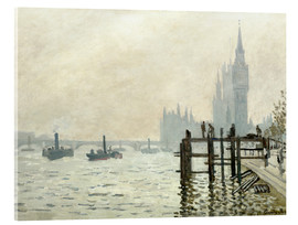 Acrylic print  The Thames below Westminster - Claude Monet