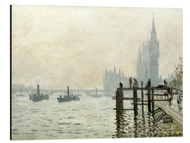 Aluminium print  The Thames below Westminster - Claude Monet