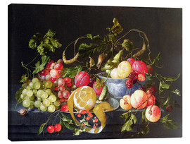 Canvas print  A still life with fruits - Cornelis de Heem