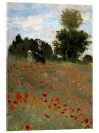 Acrylic print  Poppy field at Argenteuil - Claude Monet