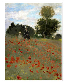 Premium poster Poppy field at Argenteuil