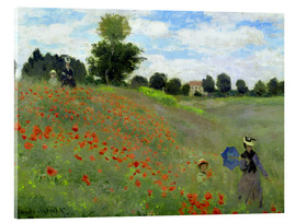 Acrylic print  Poppy field at Argenteuil, detail - Claude Monet