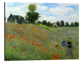 Aluminium print  Poppy field at Argenteuil, detail - Claude Monet