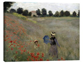 Canvas print  Poppy field at Argenteuil, detail - Claude Monet