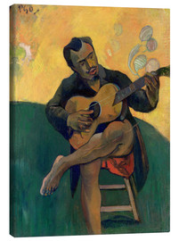 Canvas print  The Guitar Player - Paul Gauguin
