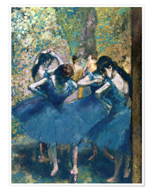 Premium poster  The Blue Dancers - Edgar Degas