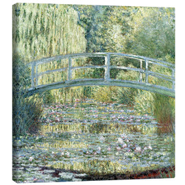Canvas print  Water lily pond in green - Claude Monet