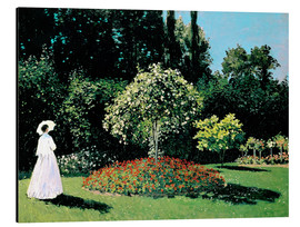 Aluminium print  Woman in a Garden - Claude Monet