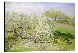 Aluminium print  Flowering apple trees in spring - Claude Monet