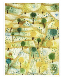 Premium poster  Small Rhythmic Landscape - Paul Klee