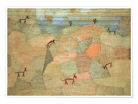 Premium poster  Landscape with Donkeys - Paul Klee
