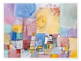 Premium poster  German city - Paul Klee