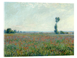 Acrylic print  Field with poppies - Claude Monet