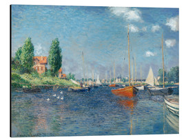 Aluminium print  Red boats at Argenteuil - Claude Monet